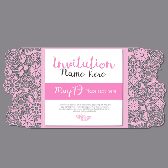 pink bridal shower invitation hot pink wedding invitation girls birthday invitation set of 50 pcs