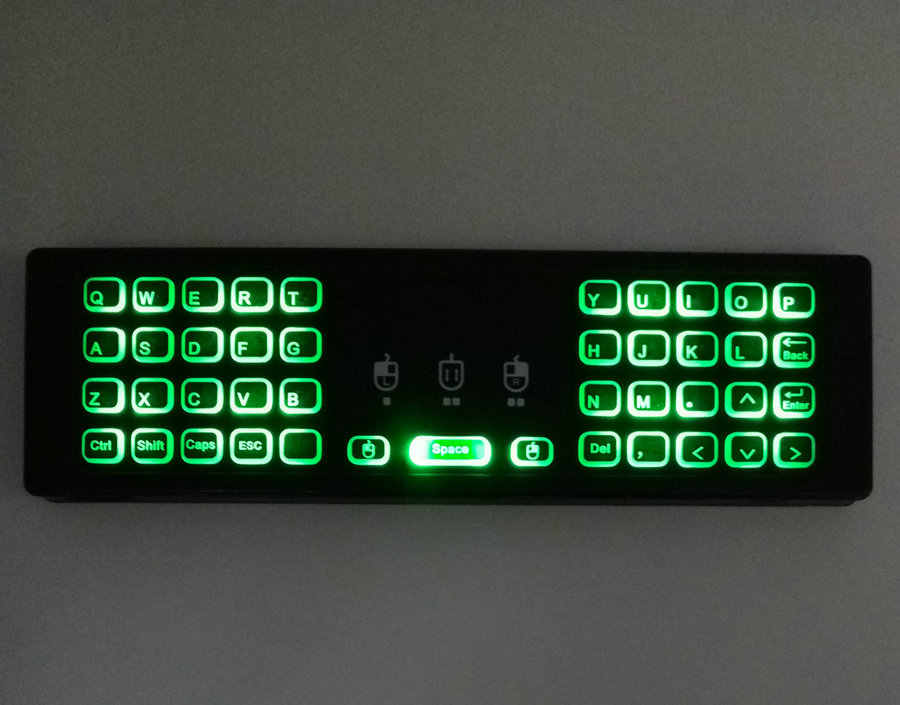Genuine Calvas Calvas 2.4GHz Wireless Backlit Mini Keyboard MX3 Pro Air mouse IR Learning Mode Remote Control For PC Android TV Box - Color: EN Voice No Backlit