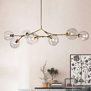 Nordic Pendant Light modern living room Pendant lamps simple creative  personality bubble transparent glass bedroom creativity