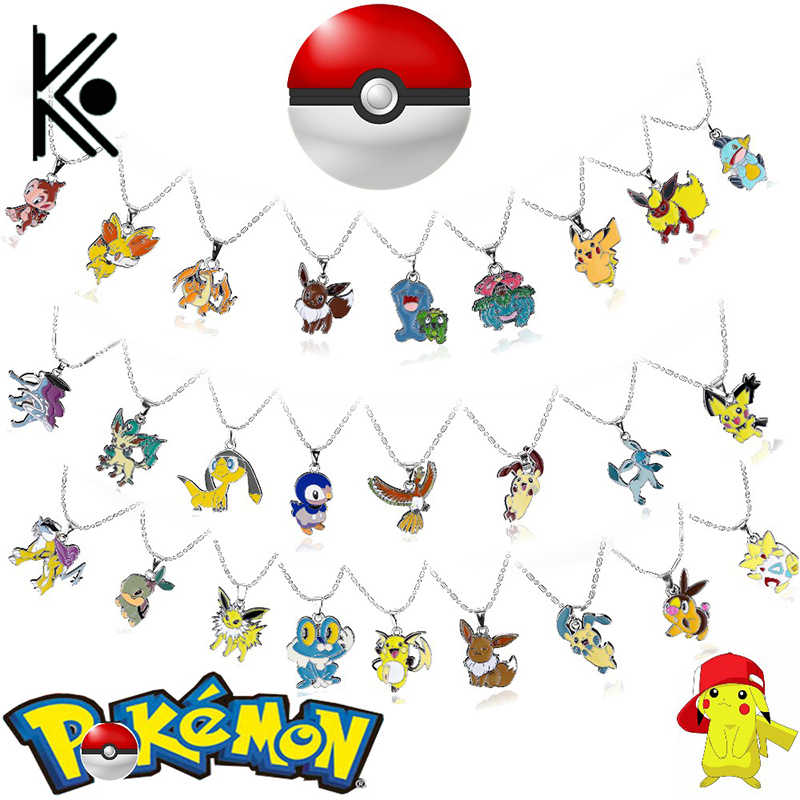 free shipping Pikachu Pokmon Necklace Women Silver Pikachu Pokemn Pendant Necklace Jewelry Fine Jewelry