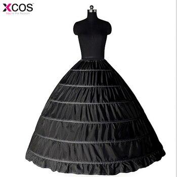 412fb6f72d7 Новые кружевные края 6 нижние юбки с фижмами суеты для бальное платье  черные свадебные платья