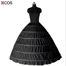 Новые кружевные края 6 нижние юбки с фижмами суеты для бальное платье черные свадебные платья, нижняя юбки свадебные аксессуары свадебные Кринолины