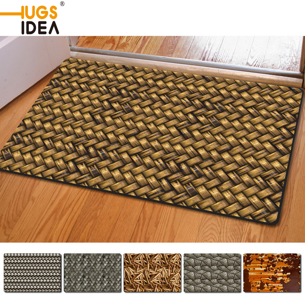 3D Metal Printed 4060 CM Floor Mat For Living Room Bathroom Bedroom Kitchen Carpet