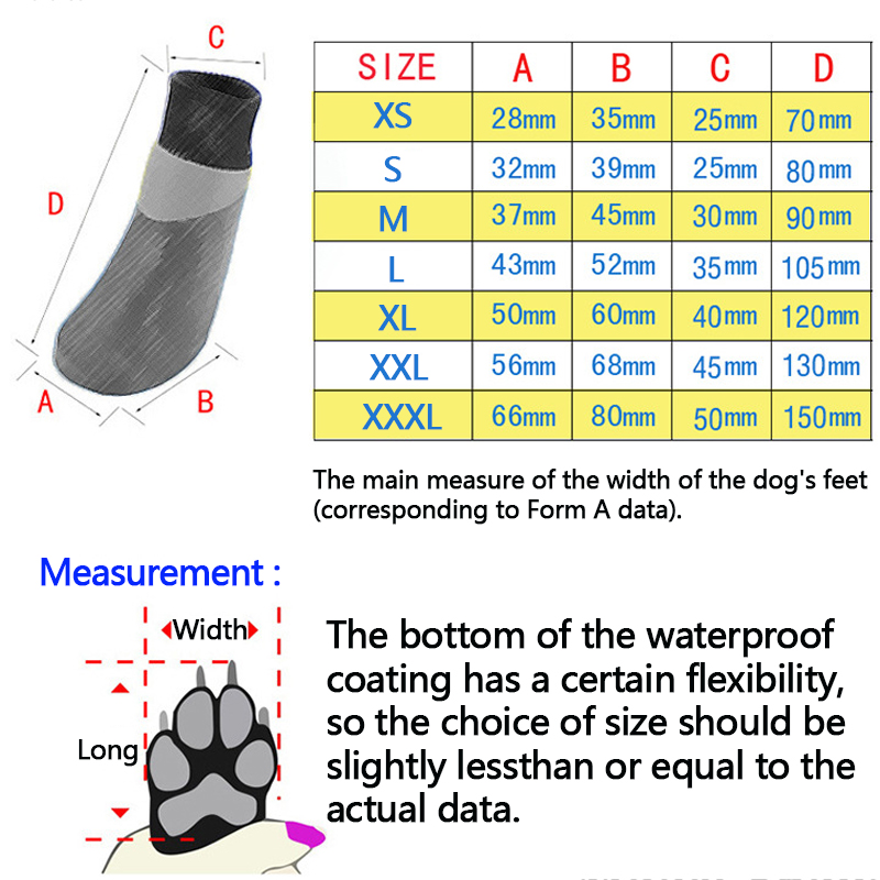 Pet shoes Socks Medium Dog Autumn Outdoor Waterproof Dog Socks Anti Skid Small and Large Pet Shoes Dog Cotton Shoes Design 4pc (5)