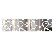 2016 Nueva Diy Pegatinas de Pared Decoración Para El Hogar de Europa de Acrílico Espejo Etiqueta de la pared Adesivo De Parede Vinilos Paredes Patrón Caballo Mariposa