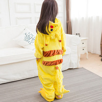 Pikachu Onesie Pajama Animal Catton Children Kids Boy Girl Lovely Jumpsuit Flannel Soft Sleepwear Christmas Gift