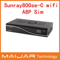 digital satellite receiver sunray  sun800se cable with wifi  Enigma2 work for OE2.0 multimedia  a8p sim 800se cable oem