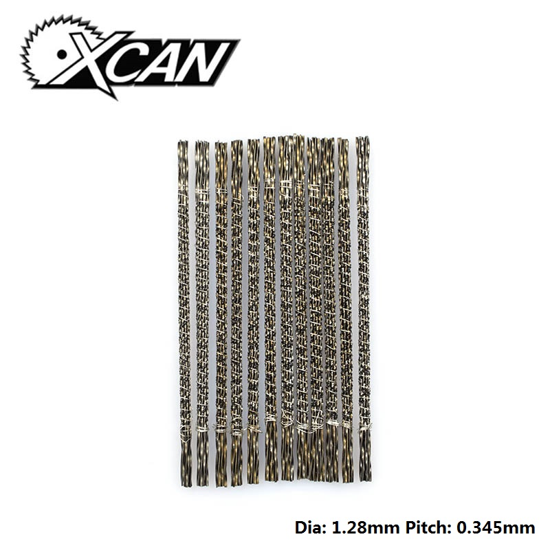 XCAN 144pcs Scroll Saw Saw Blades Spiral Teeth 7#  Jig Saw Saw Blades For DIY Jewelry Cutting