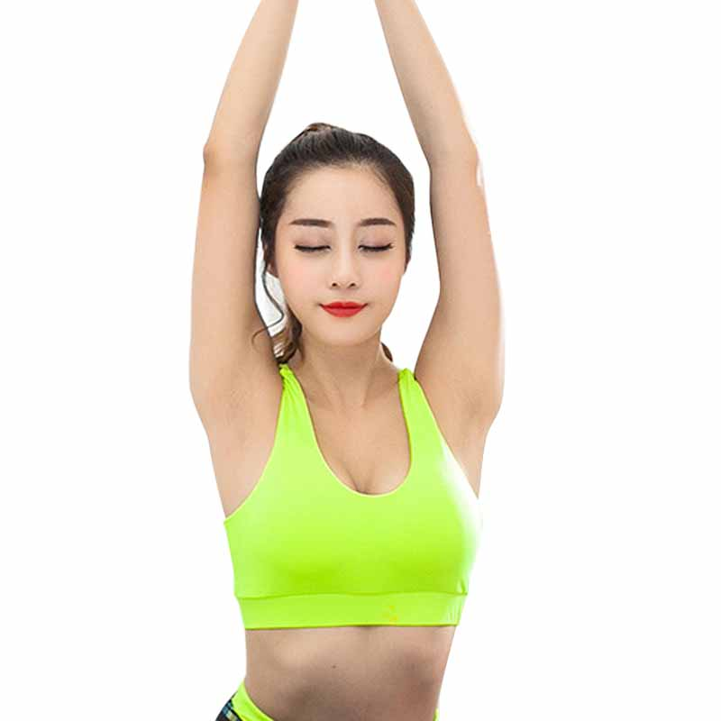 80efefb17f CALOFE Women Yoga Bra Thin Breathable Fitness Sport Bras Top Gym Training  Running Brassiere Woman Shockproof Workout Bra-in Sports Bras from Sports  ...