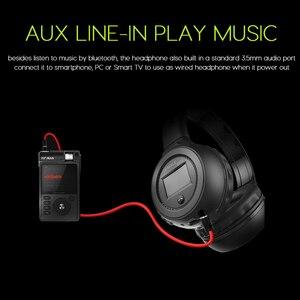 Image 5 - ZEALOT B570 auriculares, inalámbricos por Bluetooth, auriculares estéreo con pantalla LCD, Radio FM, tarjeta TF, MP3 y micrófono
