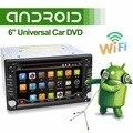2016 Новый! 6.2 ДЮЙМОВ Android 6.0 dvd-плеер Автомобиля GPS Wifi 3 Г Bluetooth 2 DIN universal X-TRAIL Qashqai x-trail juke 16 Г четырехъядерный процессор