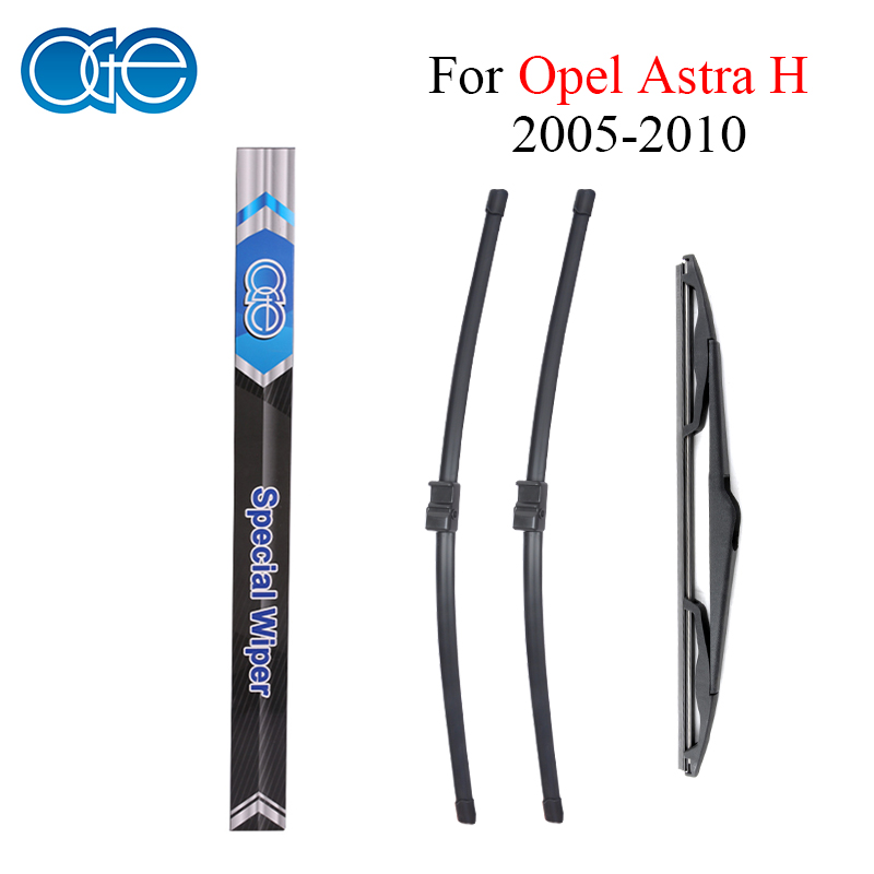 все цены на Oge Front And Rear Wiper Blades Fit For Opel Astra H 2005 2006 2007 2008 2009 2010 Rubber Windscreen Windshield Car Accessories онлайн