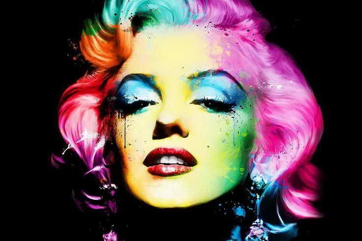 Barvy Marilyn Monroe Olejomalba Starožitné pokoje Společenské místnosti Kino Tištěné plakátové dekorace na plátně (doprava zdarma)