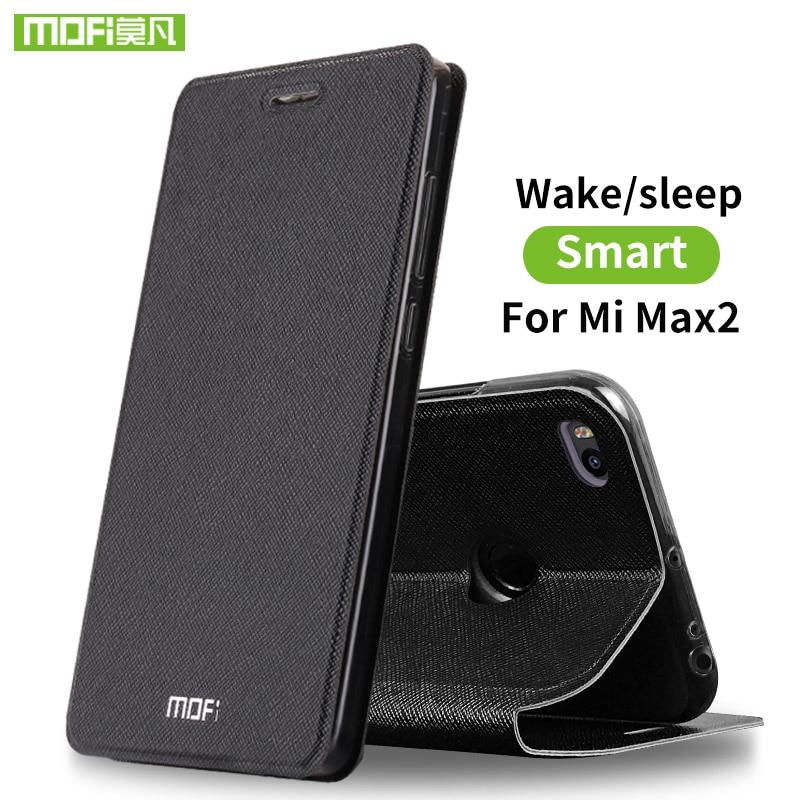 Para Xiaomi mi Max 2 funda de silicona para Xiaomi mi Max 2 caso de cuero del tirón de lujo original de Mofi caso Xiomi Mi Max2 360 fundas