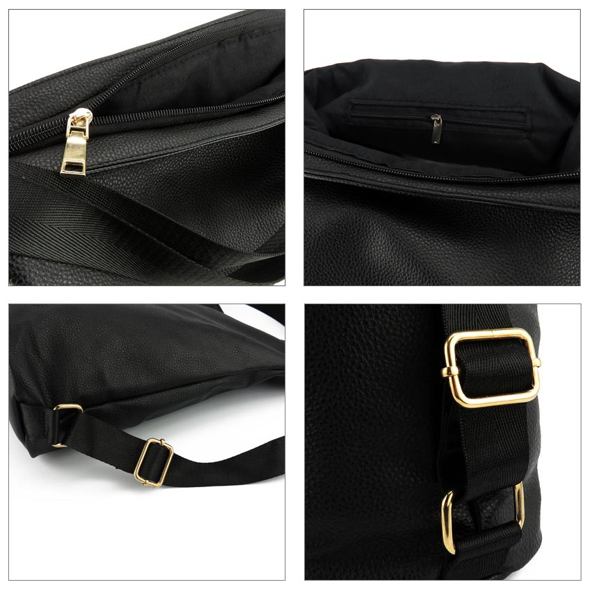 d43f85b6235 Artificial leather shoulder bag female big handbag women black color new  arrival totes bags woman hobos-in Shoulder Bags from Luggage   Bags on ...