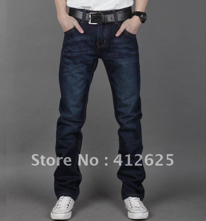 2012 men s wear jeans man cotton straight cut jeans freeshipping in