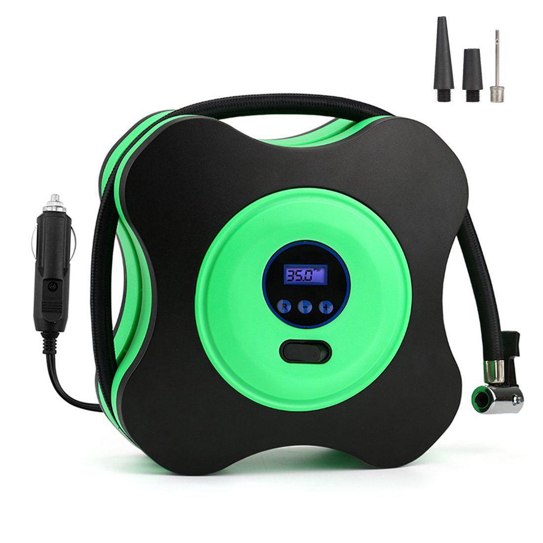 Воздушный компрессор шин насос, Авто Цифровой Надувное по 12 В DC 150PSI, 3 насадки адаптеры Портативный для Автомобили, велосипеды, баскетбол и O ...