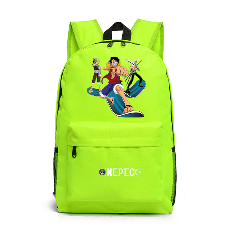 Anime One Piece Cosplay Monkey D  Luffy Cos Cartoon student backpack men and women leisure travel backpack child birthday gift anime haikyuu cosplay hinata syouyou cos student canvas men and women backpack