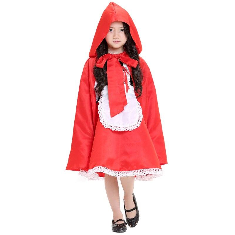 Red Riding little Hood Kid Jumpsuit Cosplay Costume Dress for girl kid children Halloween