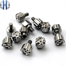 Titanium Alloy Pusher Plate Folding Knife Push Button CNC Production Nails Tool Opening And Closing Screws