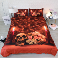 human skeleton bedding single twin double full queen king cal king size pillowcases kids duvet cover 3/4pcs adults home textile