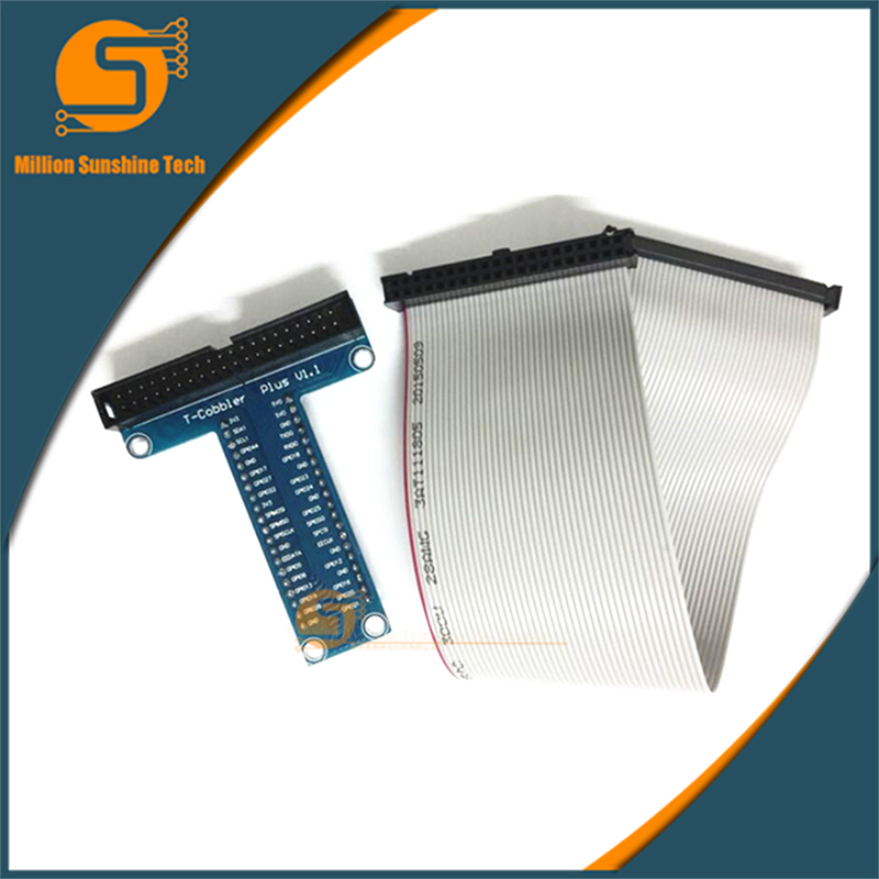 Малина Pi Тип T Плата расширения Поддержка 2 или 3 поколения Raspberry Pi GPIO расширить 40 P серый кабель ...