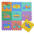 "Meitoku baby EVA foam play Puzzle mat / Interlocking Transportation floor mat,Each 30cmX30cm=12""X12"" 1cm Thick"