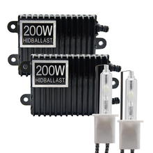 TPTOB 2 шт. 200 Вт балласт HID ксеноновый светильник лампочка 12V H1 H3 H7 H11 9005 9006 4300k 5000k 6000k 8000k
