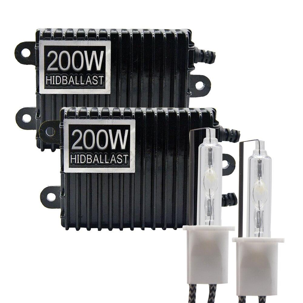 TPTOB 2 قطعة 200 واط الصابورة عدة HID زينون ضوء لمبة 12 فولت H1 H3 H7 H11 9005 9006 4300k 5000k 6000k 8000k k