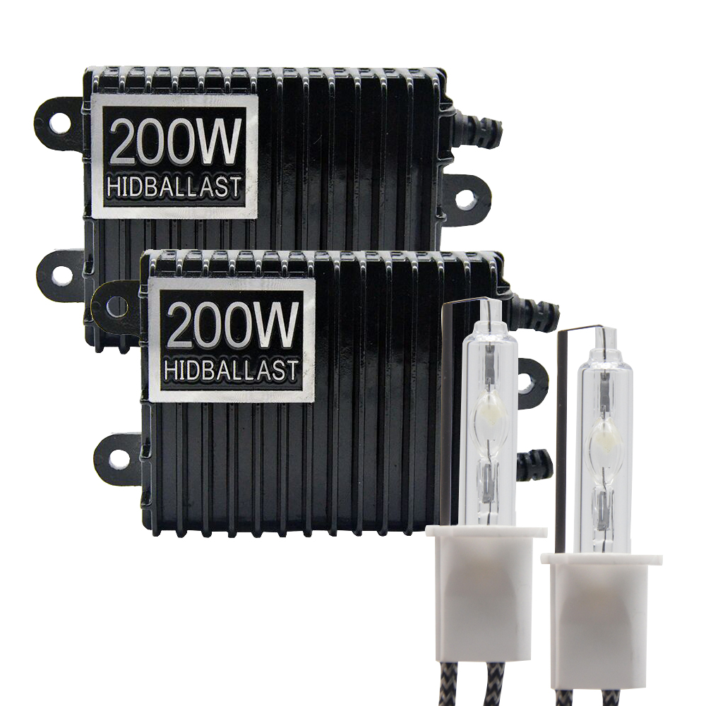 TPTOB 2pcs 200W Ballast Kit HID Xenon Light Bulb 12V H1 H3 H7 H11 9005 9006 4300k 5000k 6000k 8000k