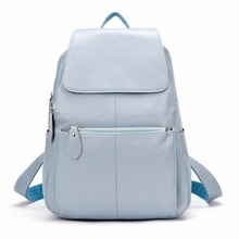 Zency рюкзак натуральной мягкой натуральной кожи рюкзаки подлинной первый Слои из коровьей кожи Топ Слои коровьей женщины рюкзак школьные сумки