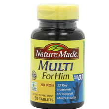 Multi For Him D3 Vitamin and Mineral, 90 Tablets free shipping