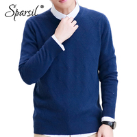 Sparsil Men Winter Angora Knitted Sweater Autumn O Neck Classic Argyle Solid Pullover Soft Plus Size S 4XL Male Knitwear Jumpers
