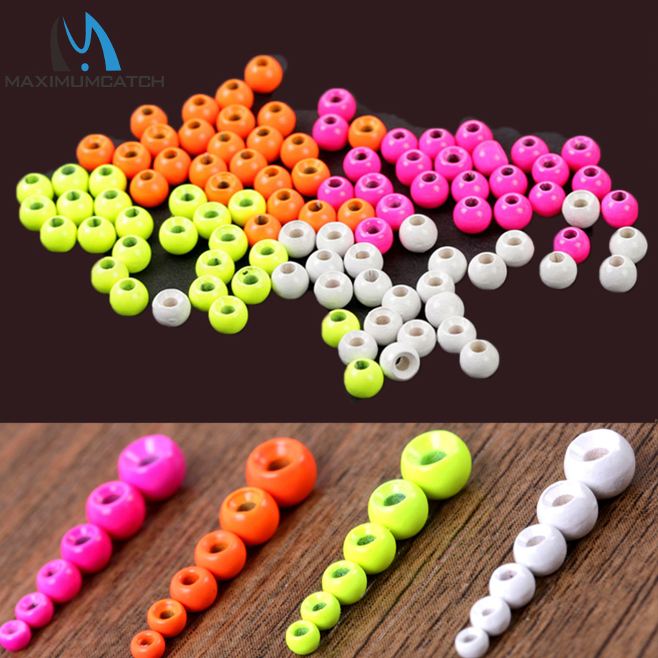 24 pcs 3.6mm 4 Colors Tungsten Beads Fly Tying Beads Weight Nymph Head Jig Fly