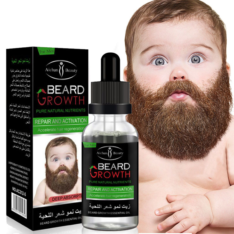 Natural Organic Men Beard Growth Oil Beard Wax balm Hair Loss Products Leave-In Conditioner for Groomed Beard Growth 30ml