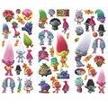 Pacote de 10 folhas Novo 2016 Trolls Adesivos Brinquedos Presente para Crianças de 6 Estilos Foam Brinquedo Etiquetas Dos Desenhos Animados da Festa de Aniversário Decoratio
