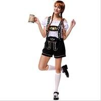 Bavarian Oktoberfest Festival Costume Deluxe Beer Girl Costume Germany Beer Bar Maid Cosplay Halloween Costumes for Women M L
