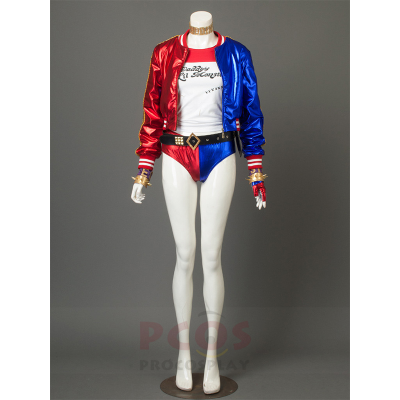 New Suicide Squad Harley Quinn Cosplay Costume Whole Suit mp003452