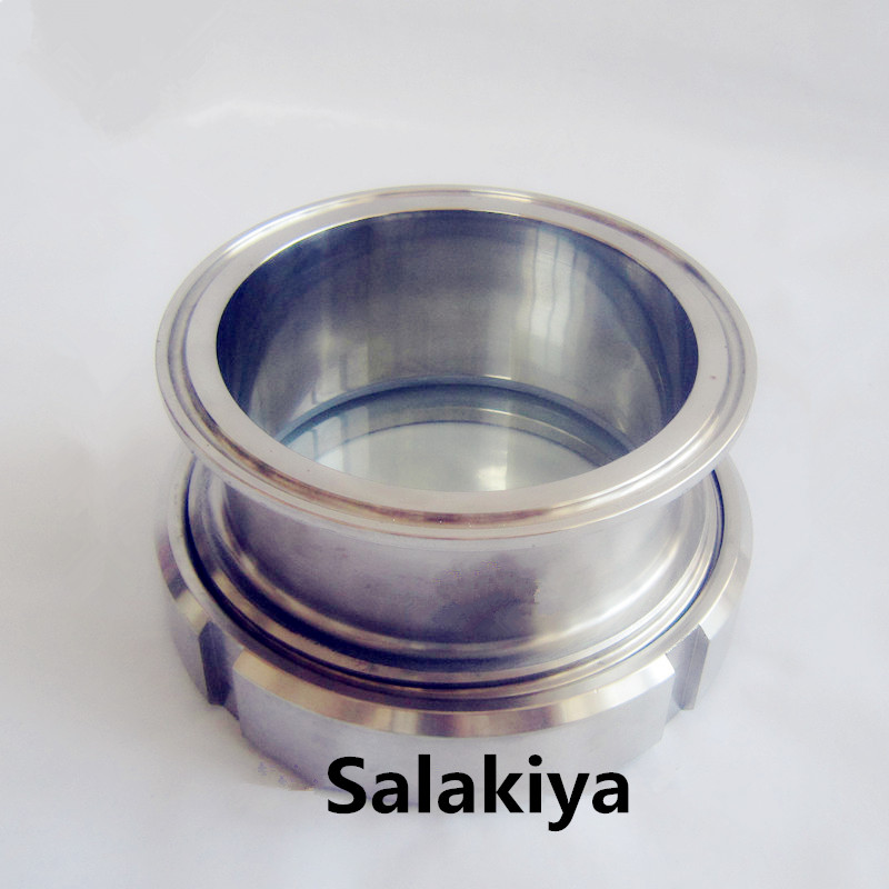 """3""""(76mm)OD91 Sanitary Tri Clamp Style Process View Sight Glass,Stainless Steel304 ,High Quality Sight Glass-in Pipe Fittings from Home Improvement    3"""
