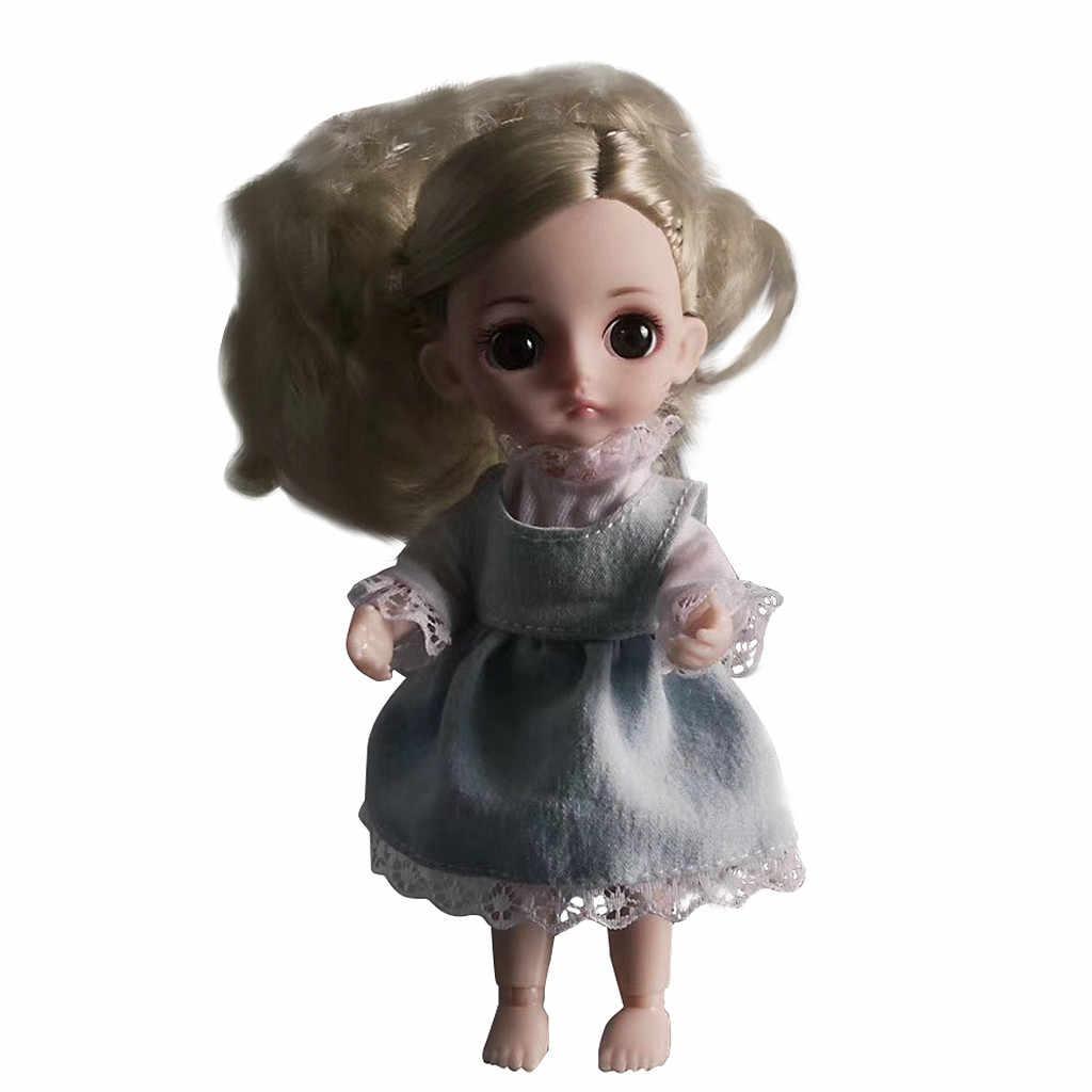 ファッション人形スマートガール王女おもちゃ多関節ミニおもちゃシミュレーション 3D 人形抱擁ギフトソフトボディのための玩具 # g4