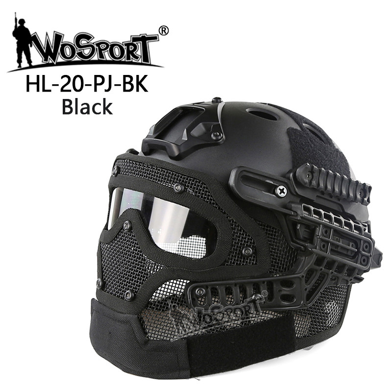 Wosport New Tactical Helmet PJ ABS Mask with Goggle for Military Airsoft Paintball Army WarGame Motorcycle Cycling Hunting two side diamond crystal evening bags fashion clutch handbag hot styling day clutches lady wedding woman bag new smyzh f0279