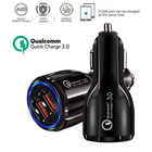 Zerosky Quick Charge 3.0 Car Charger For Samsung Xiaomi Dual USB Car Charger QC 3.0 Fast Charging Adapter Mini Usb Car Charger