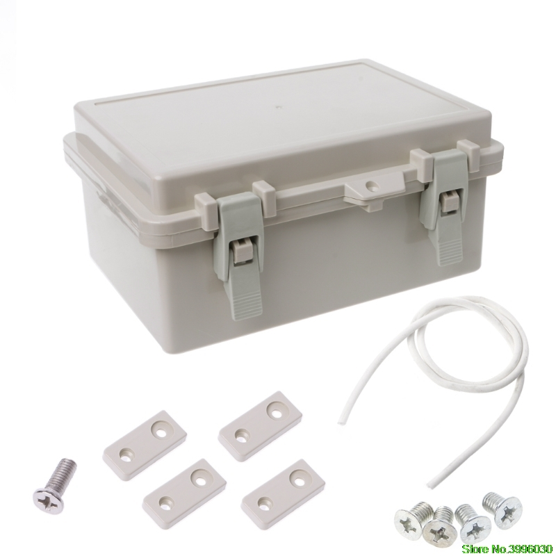 IP65 Waterproof Electronic Junction Box Enclosure Case Outdoor Terminal Cable 1pc abs waterproof electronic junction box screw mayitr plastic sealed enclosure case shell outdoor terminal cable 240 170 110mm