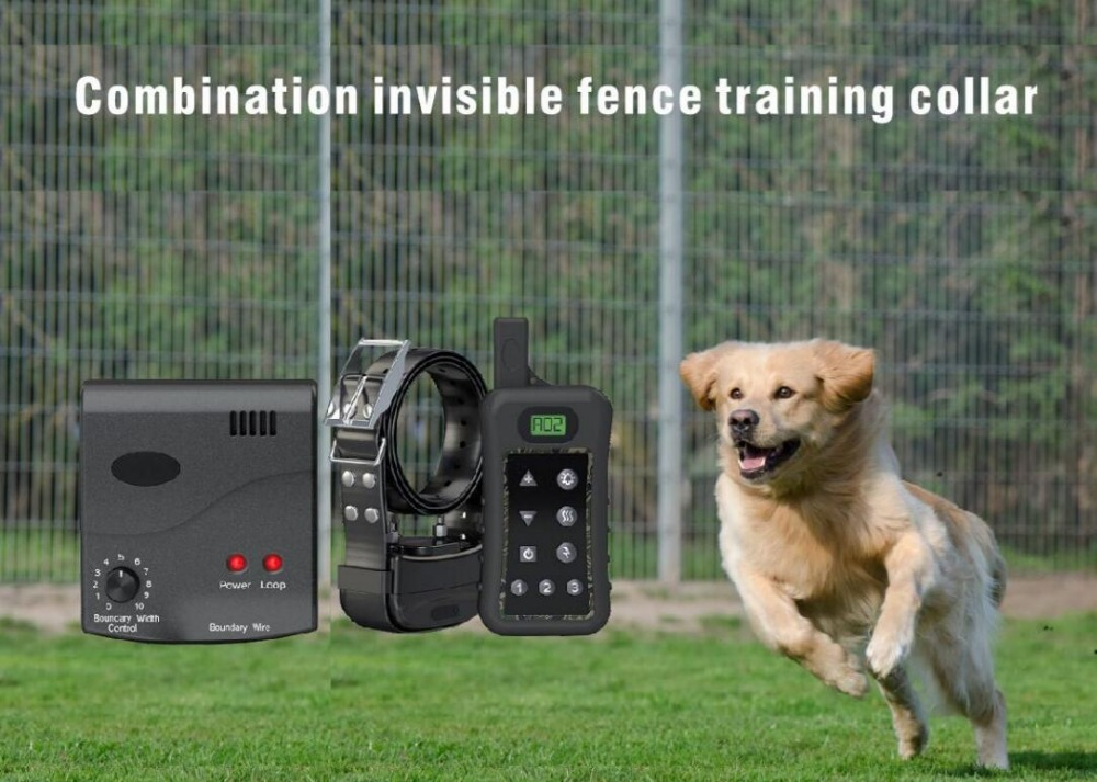 Electric wiress Dog Fence system with Rechargeable Shock Collar, In ...