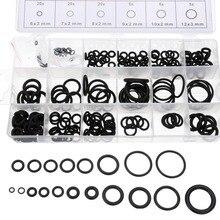 Kelfebby шт. 225 шт. резиновое уплотнительное кольцо прокладки прочный уплотнительное кольцо шайба уплотнения различные размеры ассортимент наборы с Plactic Box Kit