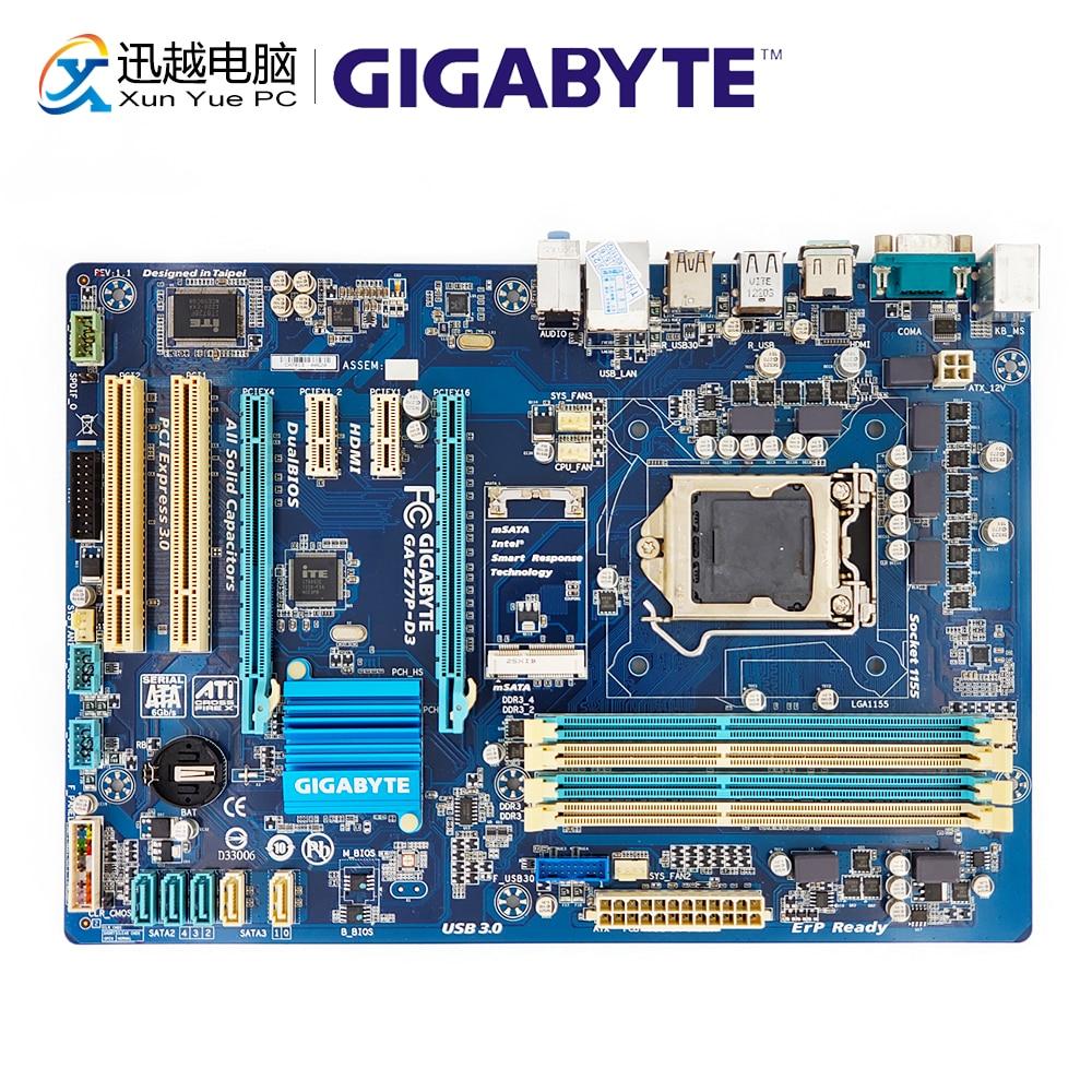 Gigabyte GA-Z77P-D3 Desktop Motherboard Z77P-D3 Z77 Socket LGA 1155 i3 i5 i7 DDR3 32G SATA3 USB3.0 HDMI ATX gigabyte ga z77 ds3h desktop motherboard z77 ds3h z77 lga 1155 i3 i5 i7 ddr3 32g sata3 atx