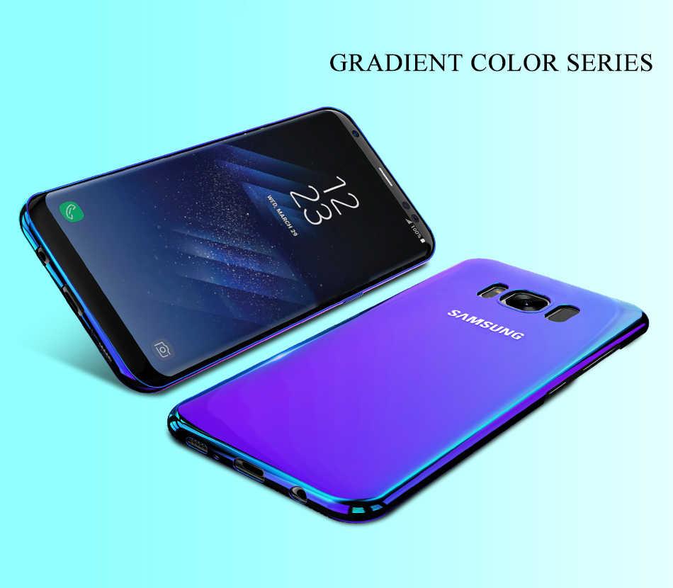 أورورا الأزرق راي الهاتف حقيبة لهاتف سامسونج غالاكسي S9 S9 plus رقيقة جدا غطاء لسامسونج S8 S7 حافة نوت 8 9 غطاء كابا الملحقات