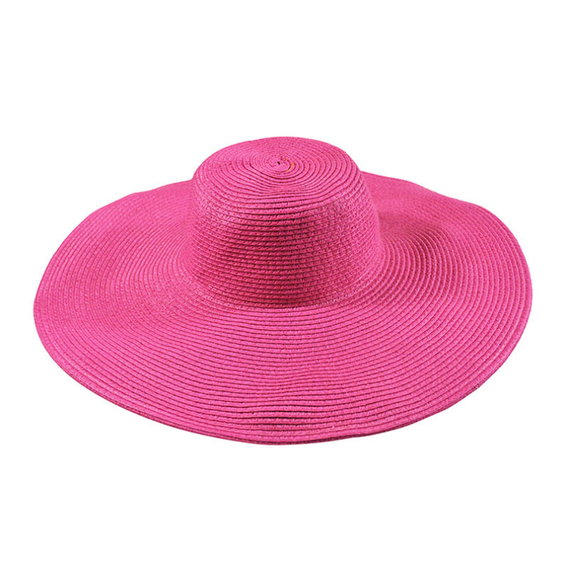 2019 Summer Fashion Floppy Straw Hats Casual Vacation Travel Wide Brimmed Sun Hats Foldable Beach Hats For Women Hats in Women 39 s Sun Hats from Apparel Accessories