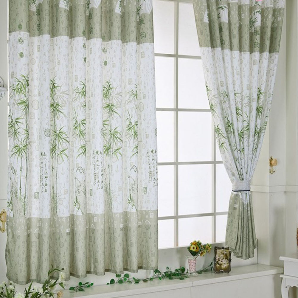 Bamboo Calico Finished Product Cloth Window Screens Curtain Bedroom ...