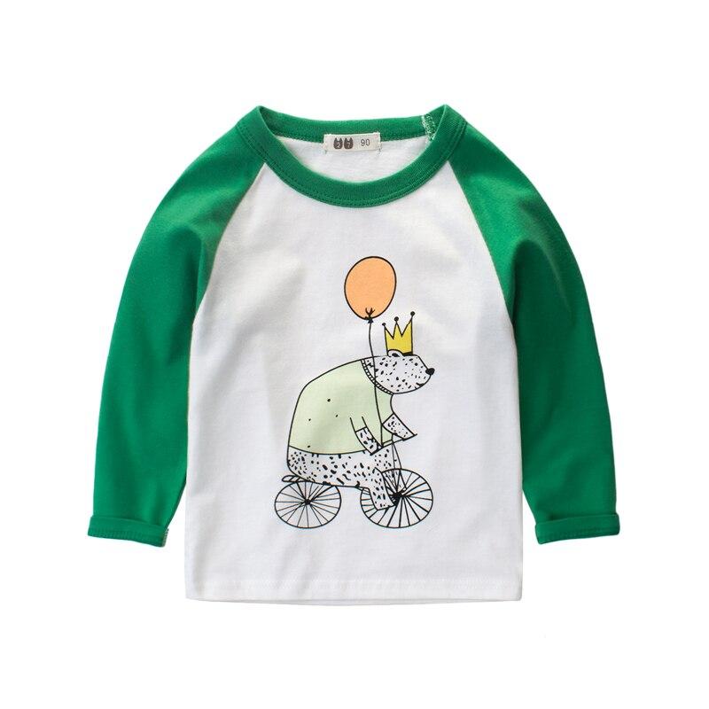 Boy Long Sleeve Tops Sweatshirts Bear Kids Boys Clothes 100% cotton girls t-shirt clothes girl kid T shirt children clothing
